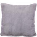 Faux fur Pillows Lino, L45cm, B45cm, light gray